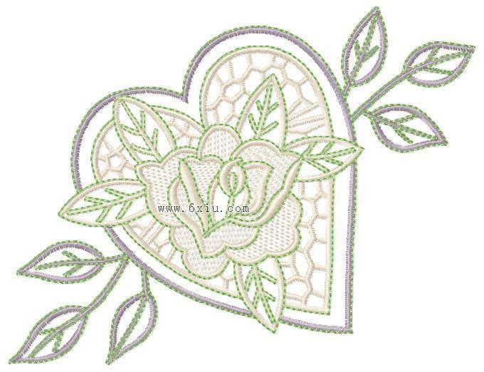 绣花图案 玫瑰-色丁立体玫瑰花布料 盘带绣花面料图片